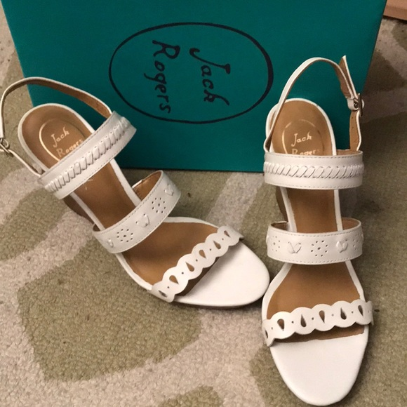 0c60b0bcfa1f Jack Rogers size 10 white Arden shoes-NIB